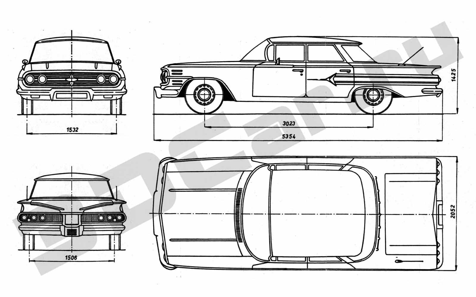 u0427 u0435 u0440 u0442 u0435 u0436 chevrolet impala  1961       3dcar ru