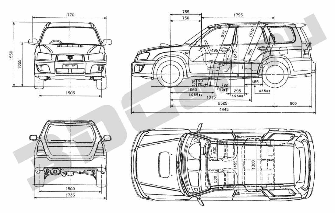Chertezh Subaru Forester Sti 3dcar Ru 3d Modeli Avtomobilej