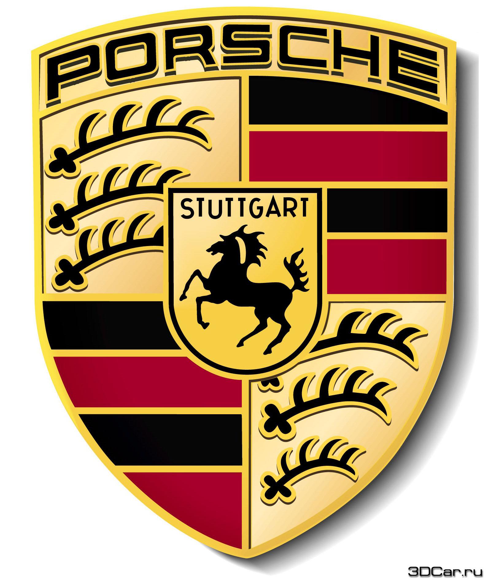 Большой логотип porsche