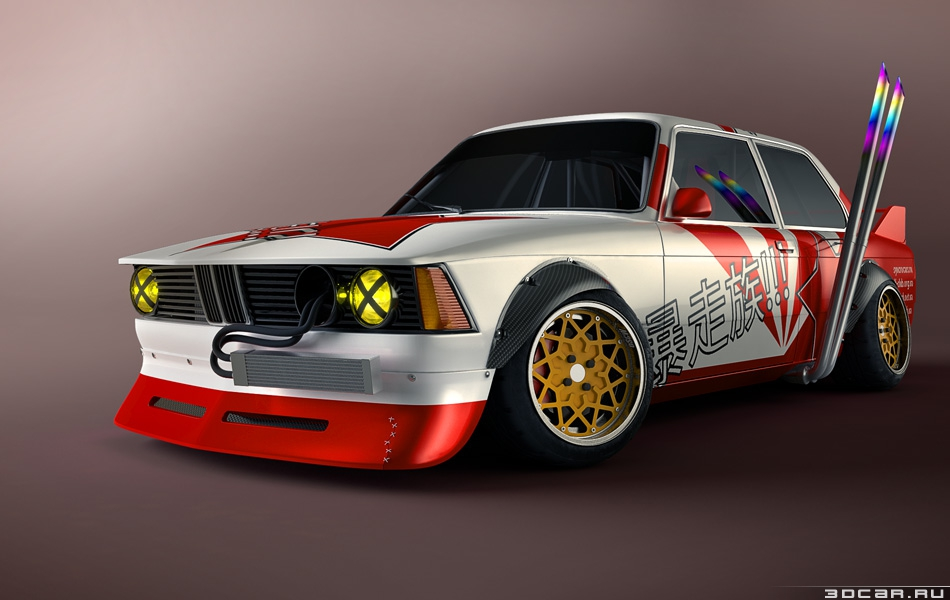 BMW e21 with some Bosozoku